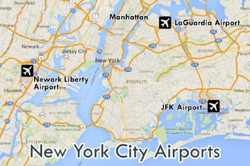 NYC Airport Locations