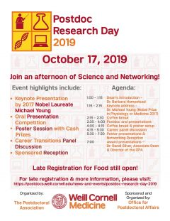 Postdoc Research Day flyer