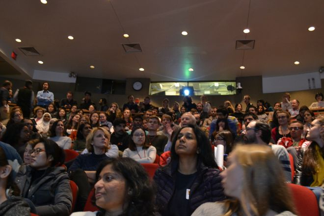 Packed Uris Auditorium